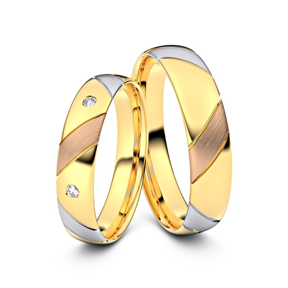 Trauringe Ahlen 585er Tricolorgold - 0713