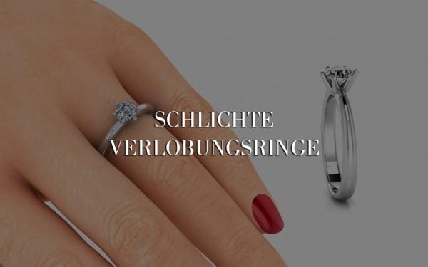 Schlichter-Verlobungsring