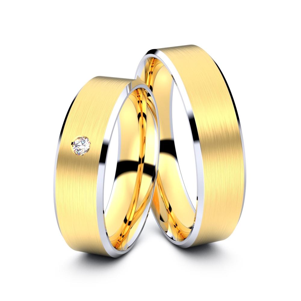 Trauringe Herten 585er Gelb-/Weißgold - 0635
