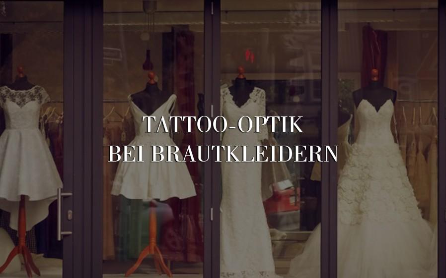 brautkleid tattoo optik