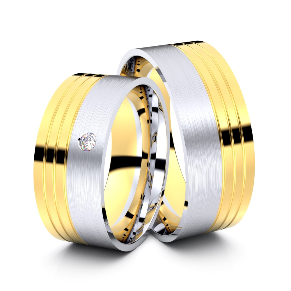 Trauringe Viersen 750er Gelb-/Weißgold - 2292